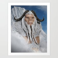 The Great White Ape Art Print