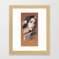 My Girl is Anarchy-tect Framed Art Print