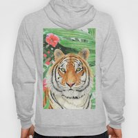 Tiger with flowers Hoody