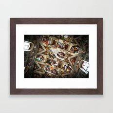 the creation. of a master piece. Framed Art Print