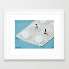 Comfort Pills Framed Art Print