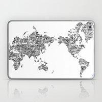 Passport Stamp Map 1 Laptop & iPad Skin