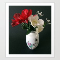 Chinese Vase with Flowers Art Print