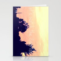 Let's Watch The Sunrise Stationery Cards