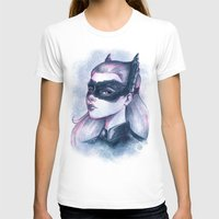 Catwoman Sketch  Womens Fitted Tee White SMALL