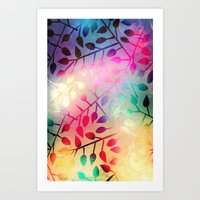 BRIGHT LEAVES - For Ipho… Art Print