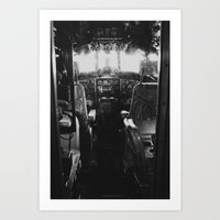 Vintage Airplane Cockpit Art Print
