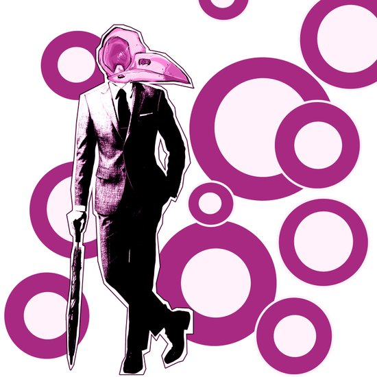 Gentlemen, We got a dead one here.. pink version Art Print
