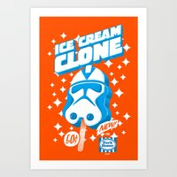 Ice Cream Clone Art Print