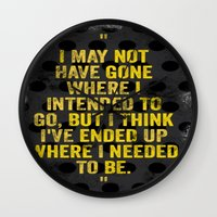 Intentions  Wall Clock