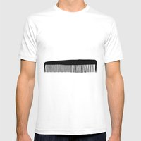Comb Mens Fitted Tee White SMALL