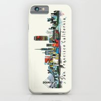 iPhone Cases featuring san francisco skyline comic by bri.buckley