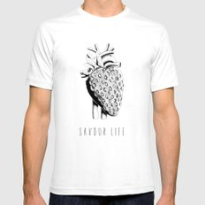 Savour Life ! Mens Fitted Tee White SMALL