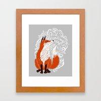 The Fox Says Framed Art Print