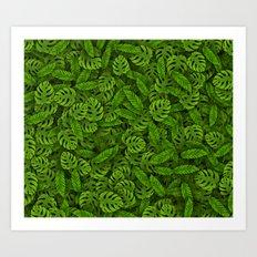 Tropical leaves 2 Art Print