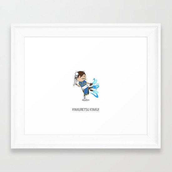 HYAKURETSU KYAKU! Framed Art Print