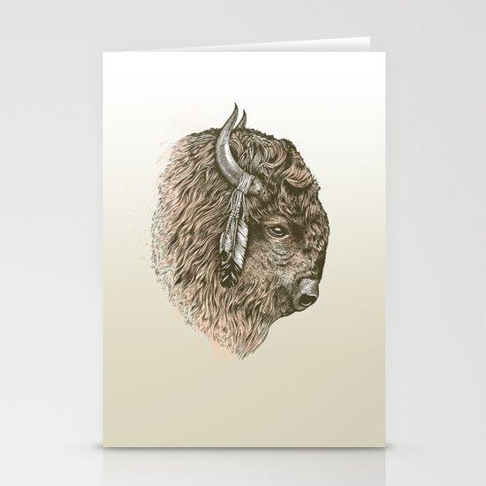 Buffalo Portrait Stationery Card