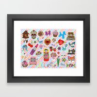 I Love Stickers Framed Art Print