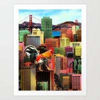 San Francisco City Chick… Art Print