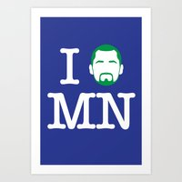 I (Kevin) Love MN! Art Print