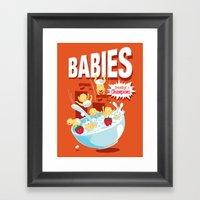 Babies! Breakfast Of Cha… Framed Art Print