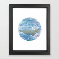 Illustration Friday: Round Framed Art Print