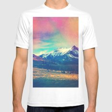 Grand Illusion. SMALL Mens Fitted Tee White