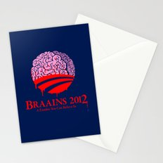 Vote Braains 2012 - A Zombie You Can Believe In Stationery Cards