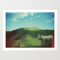 Mountain cow Art Print