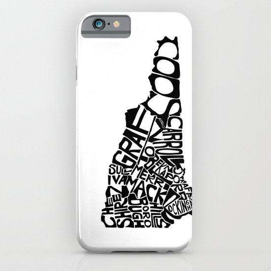 Typographic New Hampshire iPhone & iPod Case