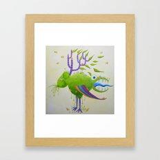 The deer-sheep Framed Art Print