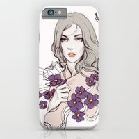 Birth Flower II - Violet iPhone 6 Slim Case