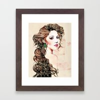 Woman With Long Hair  Framed Art Print
