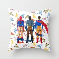 Super Hero BUTTs | It's … Throw Pillow