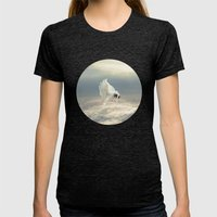 Free Falling Dream Womens Fitted Tee Tri-Black SMALL