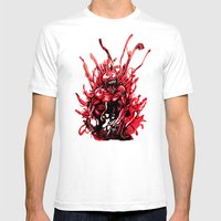 Carnage Watercolor Mens Fitted Tee White SMALL