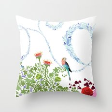 Meadow scene (full) Throw Pillow