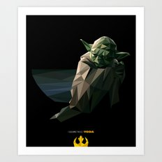 Geometric Yoda Art Print