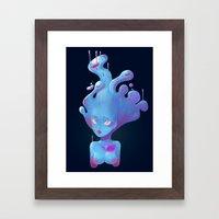 Sad Slime Girl Framed Art Print