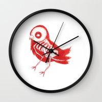 Bird X-Ray Wall Clock