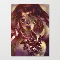 Girl Hand Girl Canvas Print