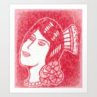 Lady From Spain Art Print