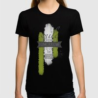 Smile Womens Fitted Tee Black SMALL