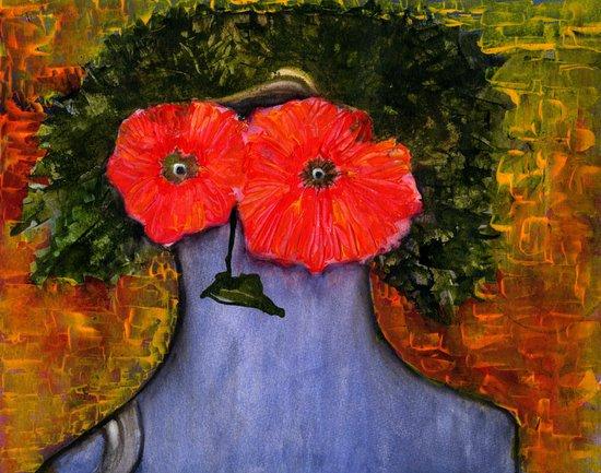 flower woman! Art Print