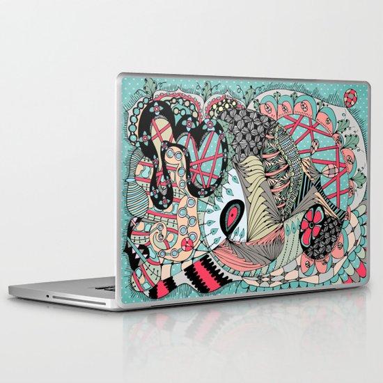 The eye looking flower Laptop & iPad Skin