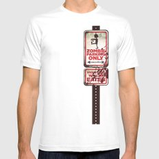 Zombie Parking only Mens Fitted Tee SMALL White
