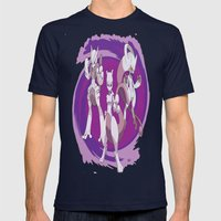 MewTwo Beyond Mens Fitted Tee Navy SMALL
