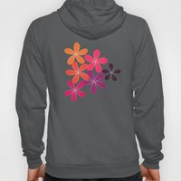 Hippie Orange and pink flowers  Hoody