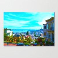 San Francisco Lombard St. Canvas Print