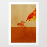 Avatar Roku Art Print